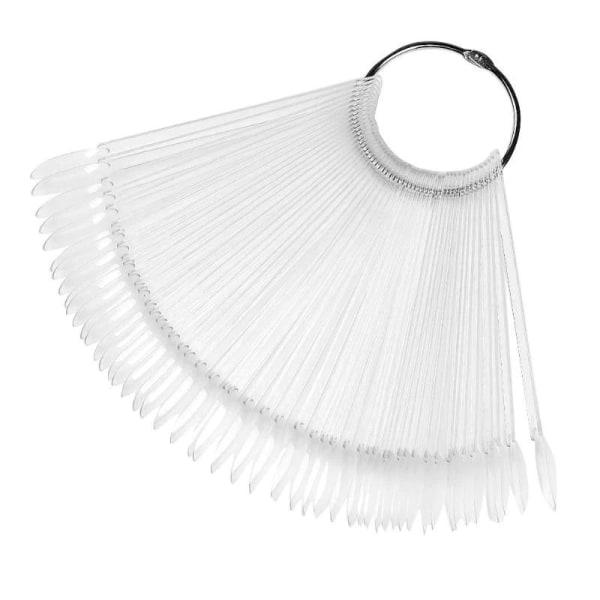 Nail Art Display - 50 farveprøver / tip om ringen Transparent