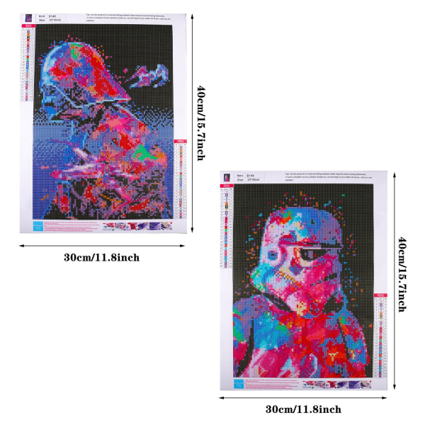 2st,5D Full Round Drill Diamond Painting Kit Art Craft,Star wars flerfärgad 2