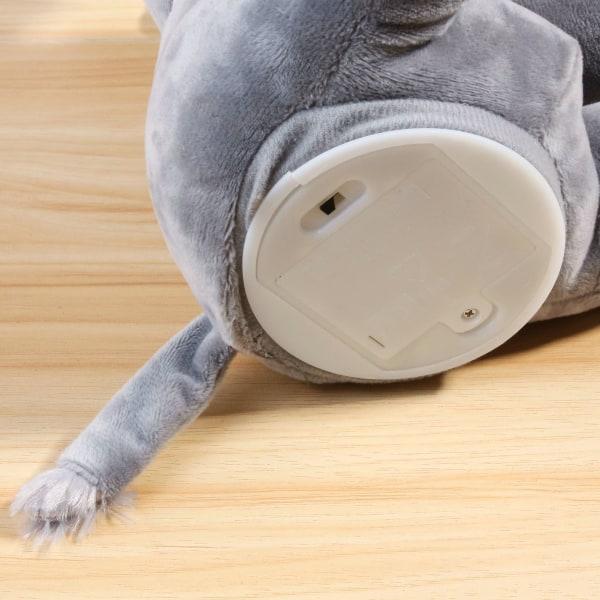 Göm och sök elefant leksak plysch elektrisk leksak,lugnande baby blå 32 cm