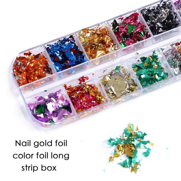 Nail Art Gold Folie Color Folie Long Bar Box