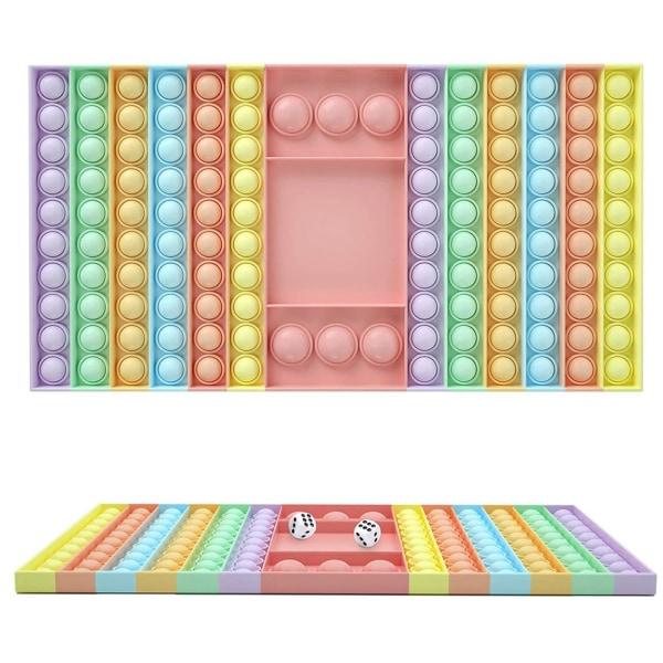 Stor rektangel, Pop it Fidget Sensory Toy, Stress Relief Toy As picture shown