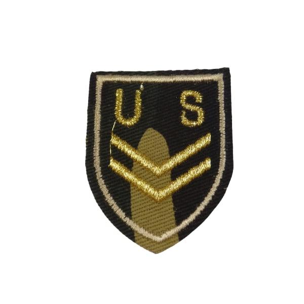 2st Tygmärken - U S gradbeteckning  Storlek 5cm flerfärgad 50 mm