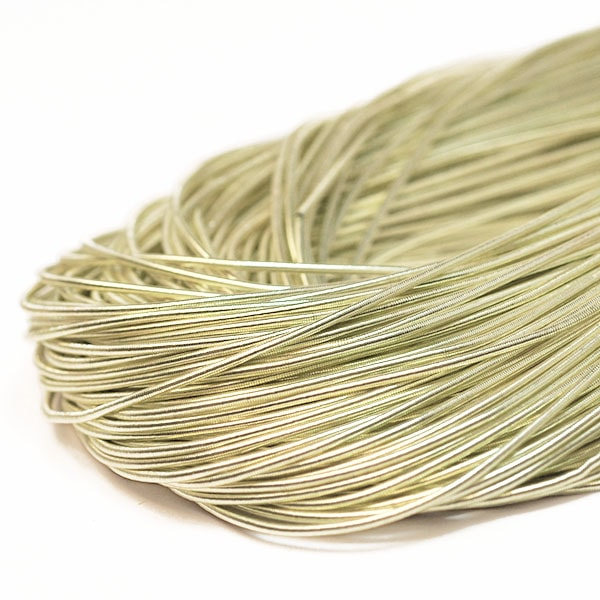 Mjuk cannetille wire för pärlbroderier, 1mm grov, champagne, ca