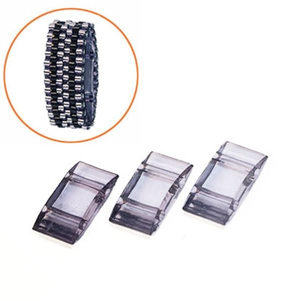 Carrier beads, 9x18mm stompärlor av akryl, grålila, 20st