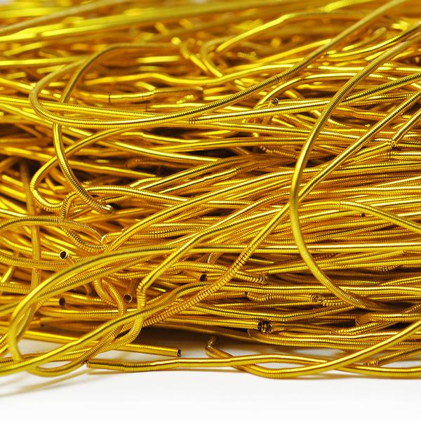 Mjuk cannetille wire för pärlbroderier, 1mm grov, guld, ca 35-40