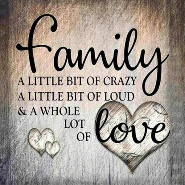 Diamond Painting 30x30 cm Family Familj Kärlek Love Diamantmålni multifärg