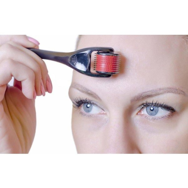 Derma Roller 540 st 0,5 mm / Dermaroller - Behandla rynkor och p Svart