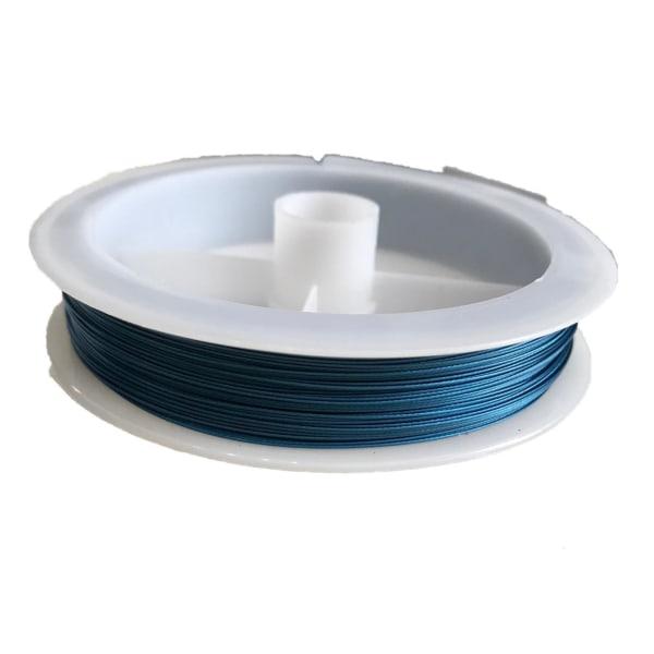0,38 mm Smycketråd 9 meter vajer blå