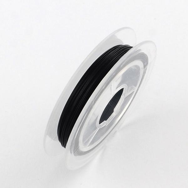2 rullar svart vajer tråd 0,45 mm