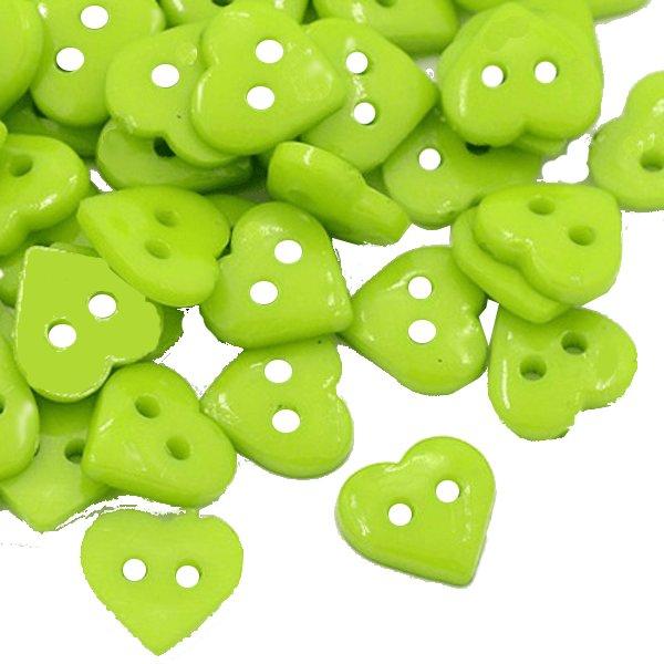 90 hjärtan knappar gröna