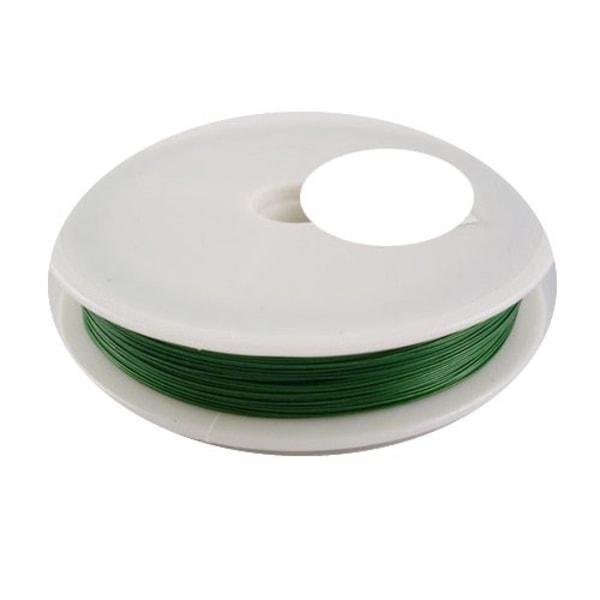 tigertail vajer grön 0,45 mm rulle 10 meter