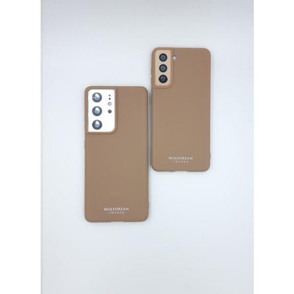 Caramel Brown TPU silikon till Samsung S21PLUS brun