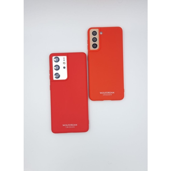 Candy Red TPU silikon till Samsung S21ULTRA röd