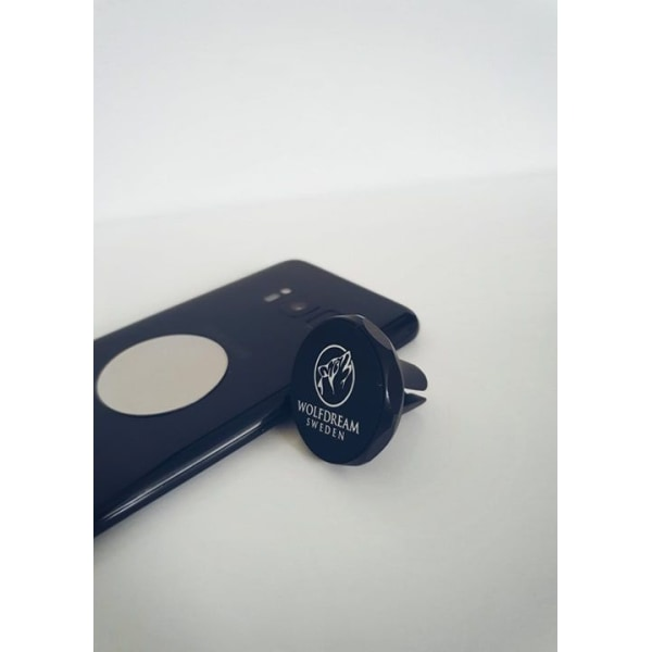 UNIVERSAL BLACK-Magnetisk bilhållare med 3 st. metallbrickor svart