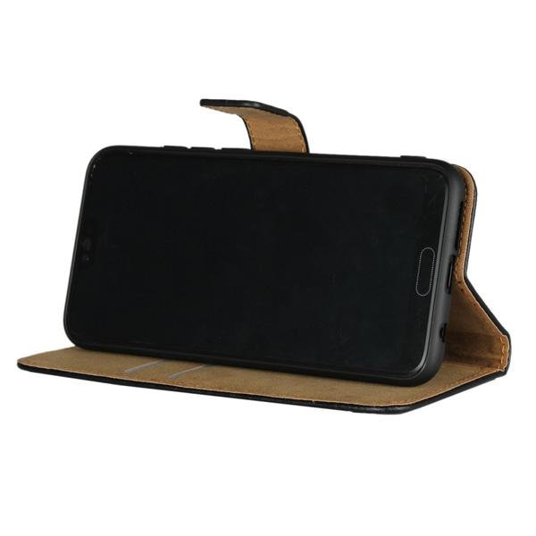 Huawei Honor 10 Läder Plånboksfodral - Svart Svart