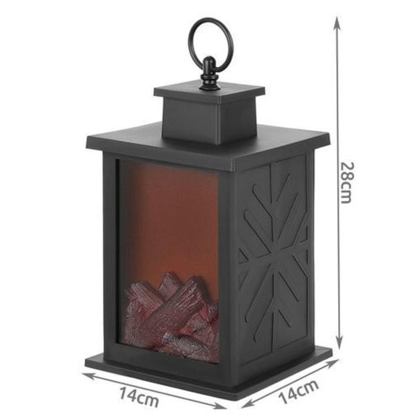 LED Kamin Lykta med Flameffekt