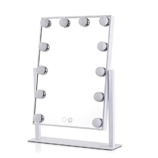 LED Sminkspegel Hollywood Style - 30x40cm vit 30x40cm