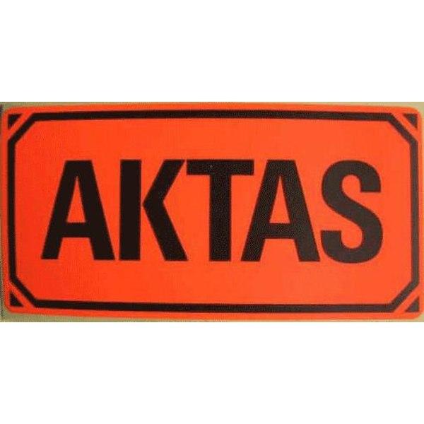 50 st AKTAS-etiketter, emballageetiketter Röd