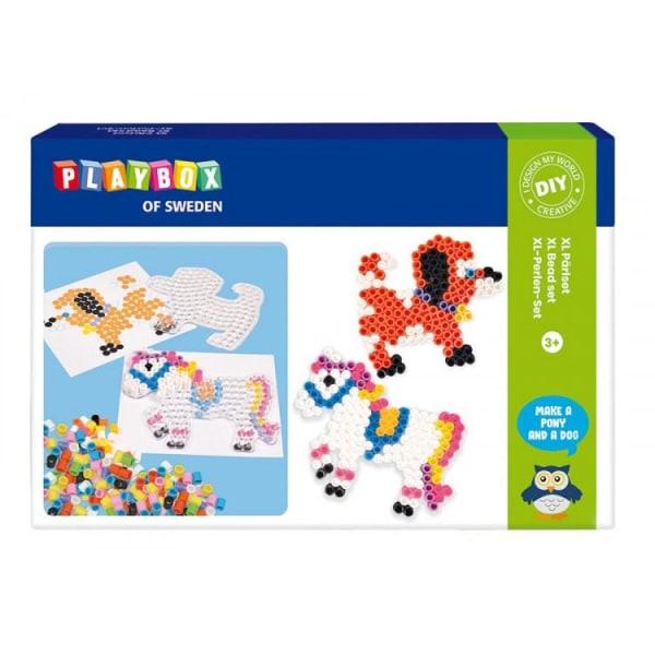 Helmesetti, XL -putkihelmet, Horse & Dog, Ø 10 mm, 600 / fp + helmilevyt Multicolor