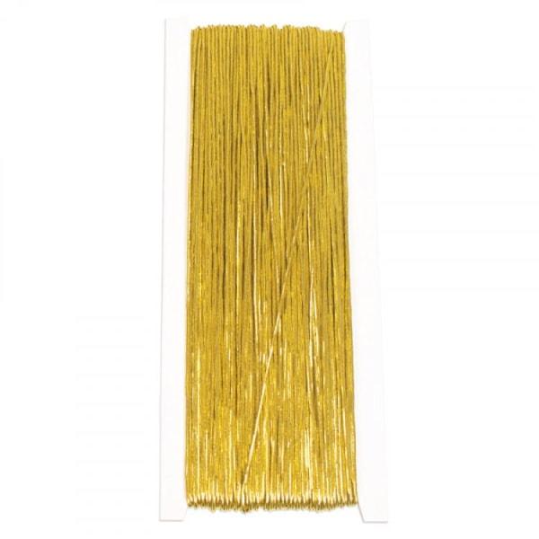Halskæde elastisk, 1 mm, 50 meter, guld Gold