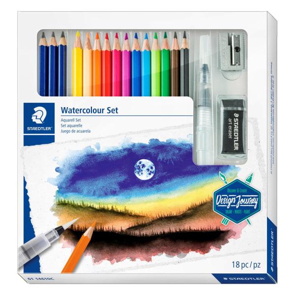 Akvarellpennset: Staedtler Watercolour Set, 18 delar multifärg