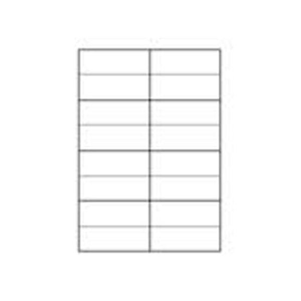 Etiket TopStick universal 8712, A4, 105x37mm Hvid, 100 ark (1600 White