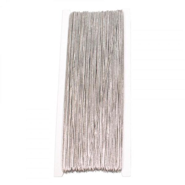 Halskæde elastik, 1 mm, 50 meter, sølv Silver
