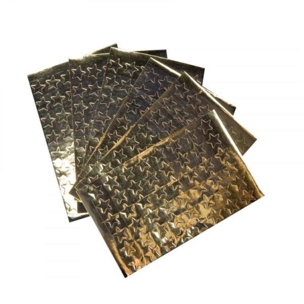 Dekorationsetiketter Guldstjärnor 13mm 288/fp Guld
