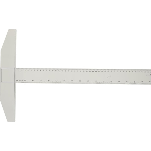 T-lineal / Vinkellineal M + R, plast, 75cm 1 / fp Transparent