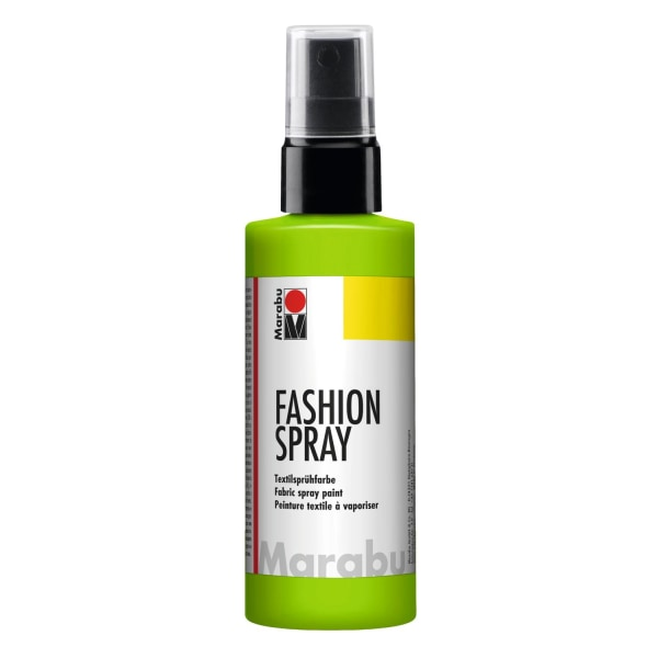 Textilfärg sprayflaska Marabu Fashion Spray 100ml Reseda (061) Ljusgrön