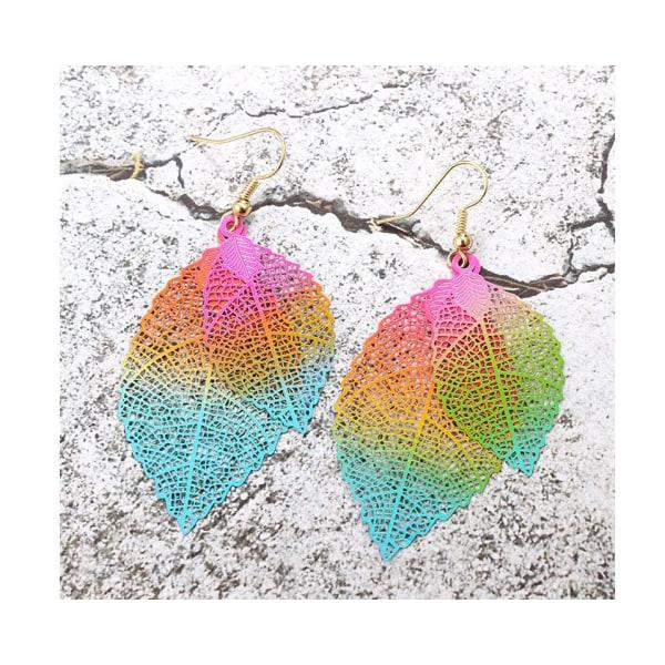 Paret  Örhängen  Löv Guld Pride Regnbåge