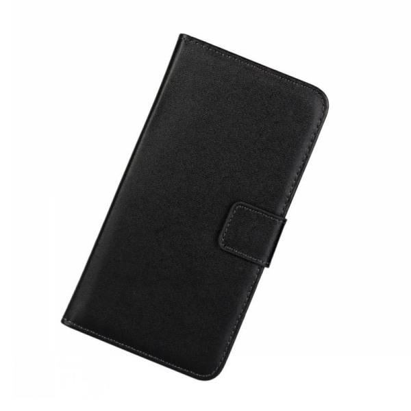 Plånboksfodral Samsung S21 Plus 5G, äkta skinn Svart