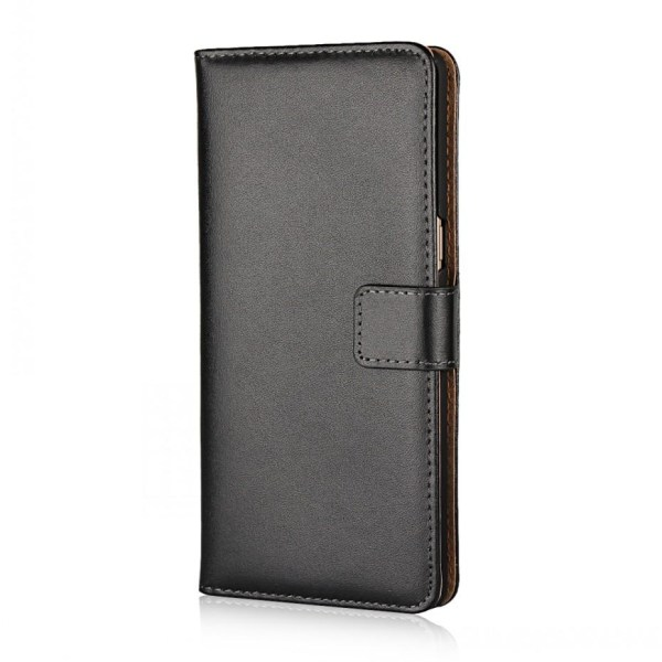 Plånboksfodral Samsung Note 20, Äkta skinn Svart