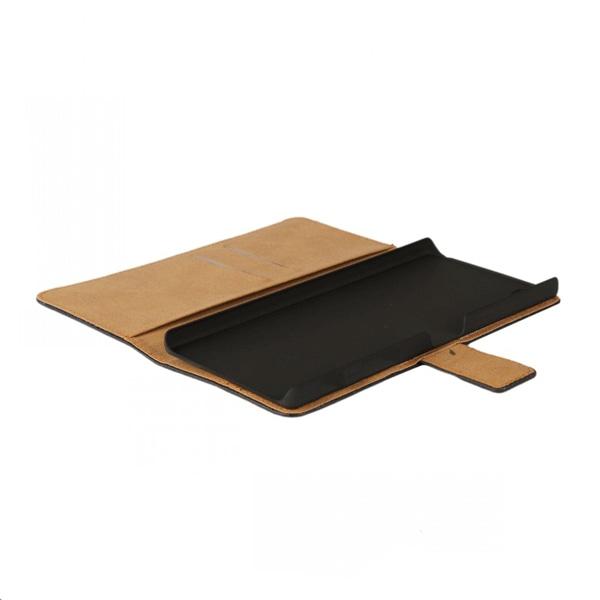 Plånboksfodral Sony Z5 Premium, Äkta skinn, Svart Svart