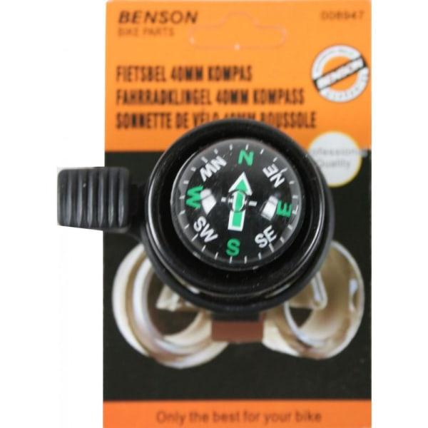Benson Ringklocka - Cykel klocka med kompass Svart