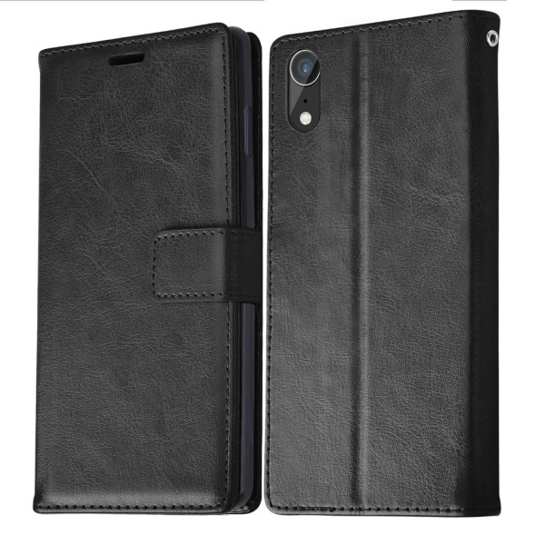 Plånboksfodral iPhone Xr, 3 kort med ID Svart
