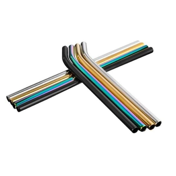 8st Rostfria Sugrör i 4 olika färger , kraftigare modell multifärg