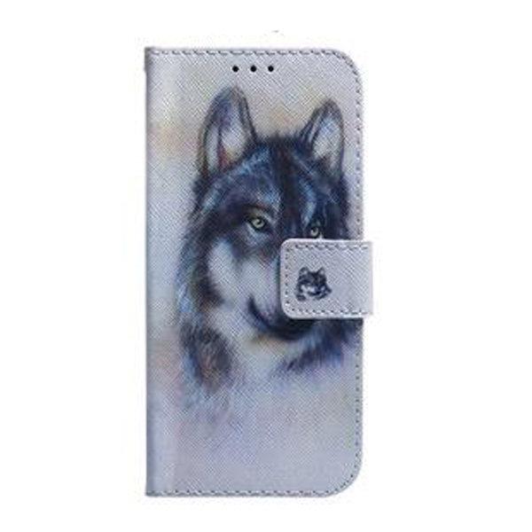 Plånboksfodral, Samsung S20, Varg grå