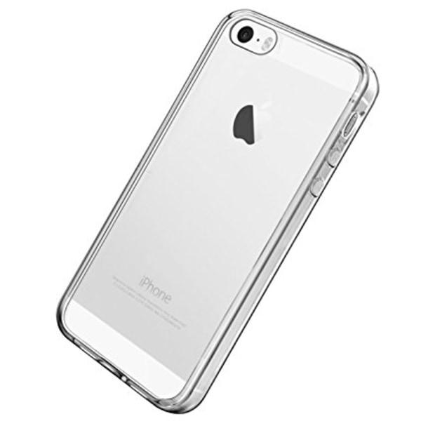 Skal i genomskinligt gummi, iPhone 5/5s/SE Transparent
