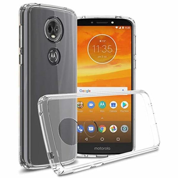 Skal Motorola Moto E5 Plus i genomskinligt gummi. Transparent