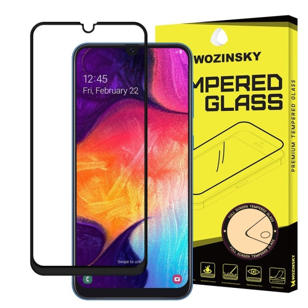 Skärmskydd Samsung A30/A50 i härdat glas Fullskärm