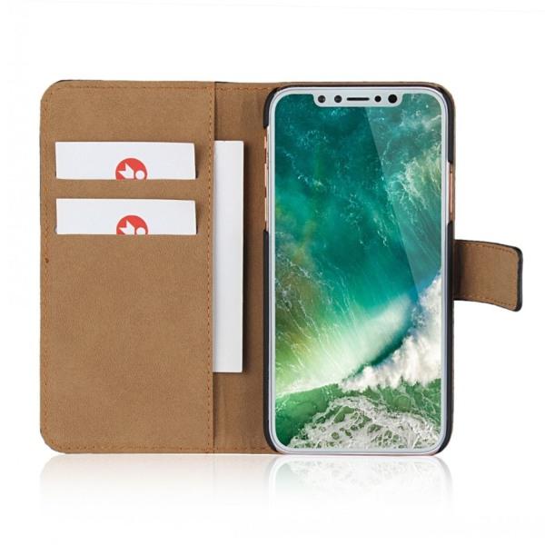 Plånboksfodral iPhone Xs Max, äkta skinn