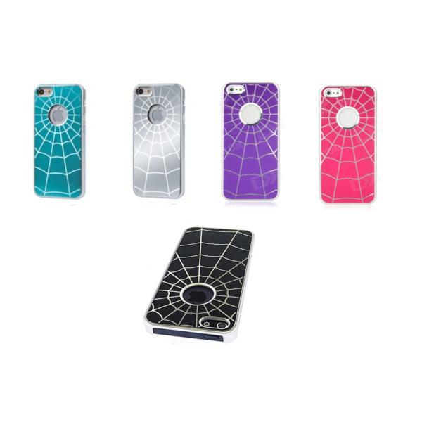 Spindelväv skal för iPhone 5/5s/SE, Aluminium/Plast