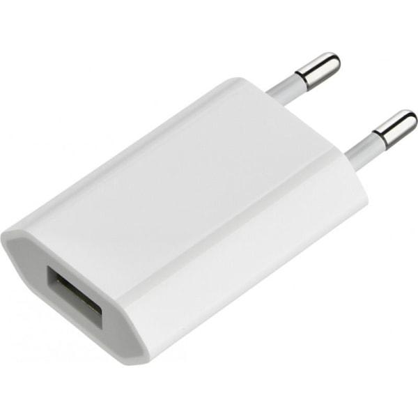 Universal USB Laddare / Väggladdare till iPhone / Samsung 5V/1A Vit