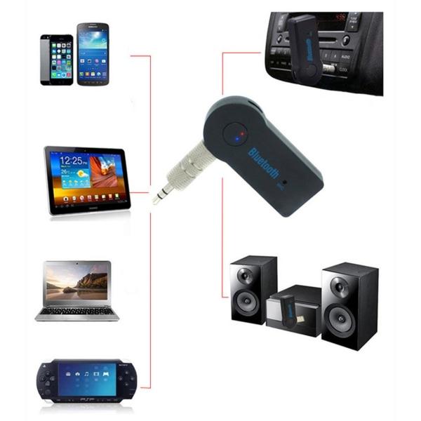 Bluetooth musikmottagare till bilen - AUX - Bluetooth 4.1 Svart