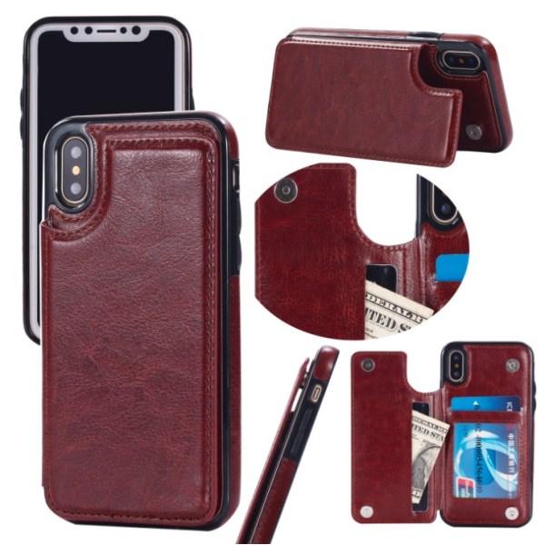 Back Card Case - iPhone 7/8 Brun