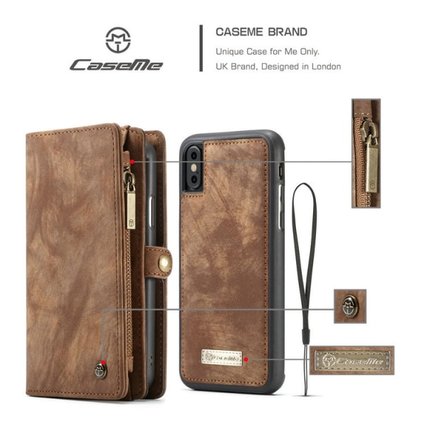 Case Me magnetic wallet  - iPhone XR Blå