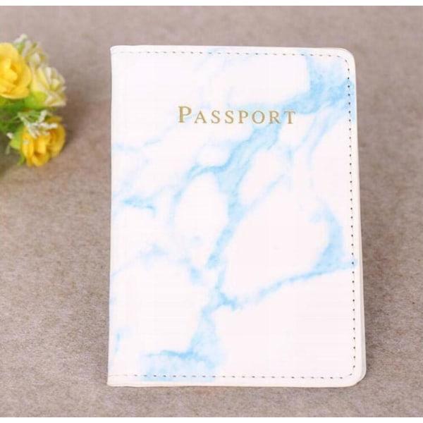 Marble passport cover grå