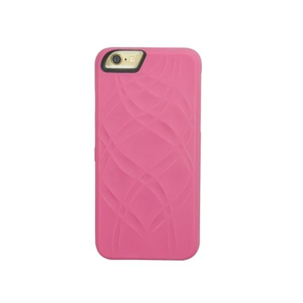 Skal med spegel och plats för kort till iPhone 6+ - 2 olika färg Rosa