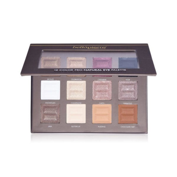Bellapierre 12 Color Pro Natural Eye Palette Transparent